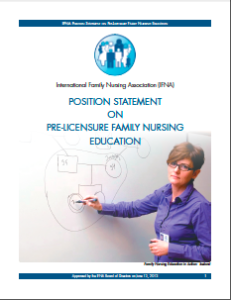 IFNA Position Statement on Pre-Licensure Family Nursing Education